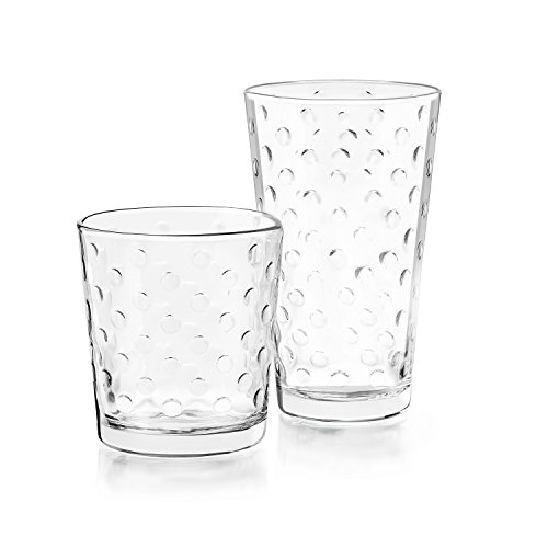 Libbey Awa 16 Piece Glass Set, - Dot Glasses