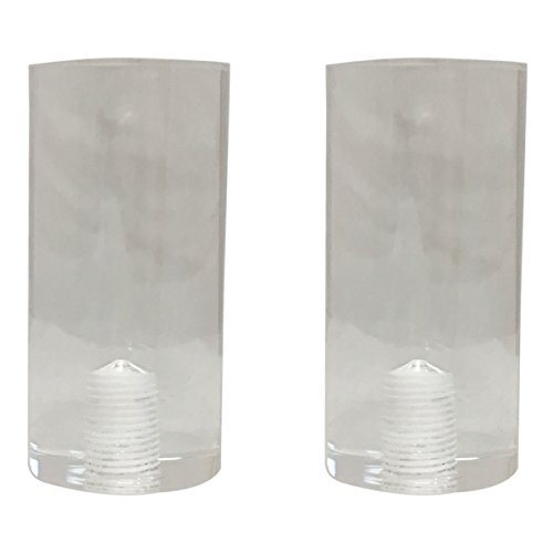 Royal Designs Tall Cylinder Clear Lamp Finial - Set of (Cylinder Floor)