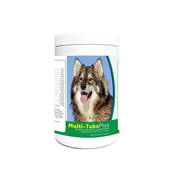 Healthy Breeds Multi-Tabs Advanced Formula Vitamin & Mineral Daily Dietary Supplement - Liver Flavored Tablets - Over 200 Breeds - 180 or 365 Chews 1