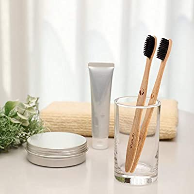 Bamboo Toothbrush Biodegradable Wooden Toothbrushes Eco-Friendly, Natural, Ergonomic, Soft BPA Free Bristles, Safe for Adults Family