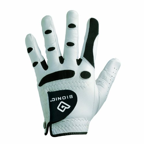 (Bionic StableGrip Golf Glove - Men's Single Glove (Left M/L, White))