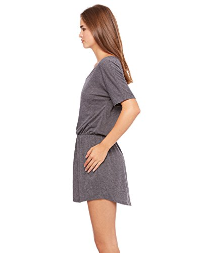Flowy Heather Medium V Neck 616404597161 Womens Grey Dark Dress Clementine qCEwTz