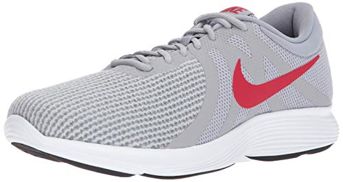 Nike Men's Revolution 4 Running Shoe, Wolf Grey/Gym red - Stealth, 13 4E US