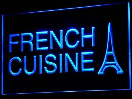Adv Pro Enseigne Lumineuse I437 B French Cuisine Cafe Restaurant
