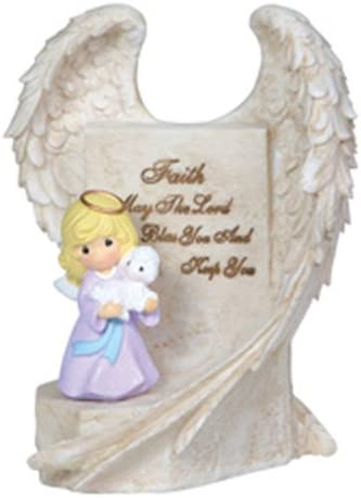 Precious Moments Angel Wings, Angel Holding Lamb Figurine