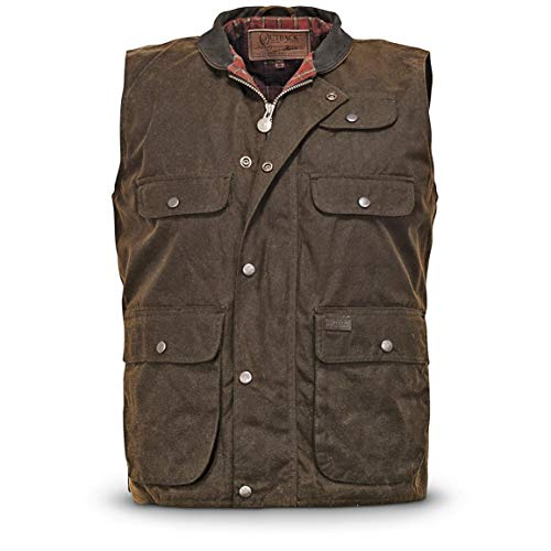 Oilskin Lightweight - Outback Trading Overlander Waterproof Oilskin Vest, Bronze, Bronze, XL