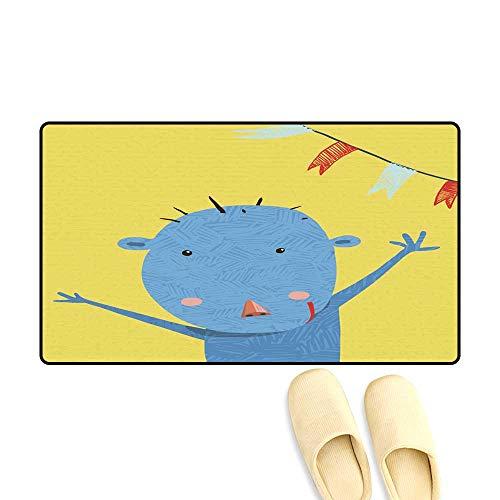 Bath Mats for Floors Greeting Card with Cute Monkey Character Cartoon 20