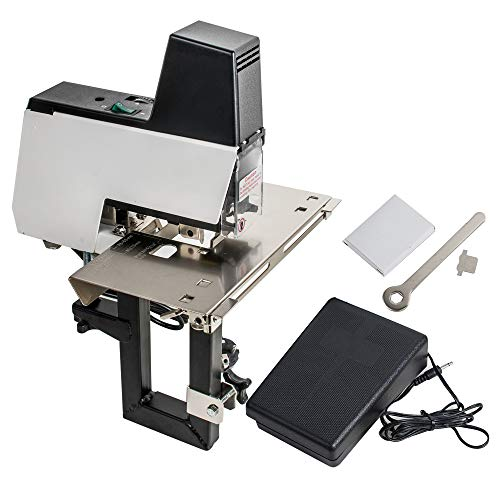 Zinnor Electric Binding Machine Book Binder Professional Office Hand Operate Manual Dual Flat Nail Saddle Stitch Stapler Flat/Saddle Stapler Machine Staples Binder Menu Paper Book Binding Machine