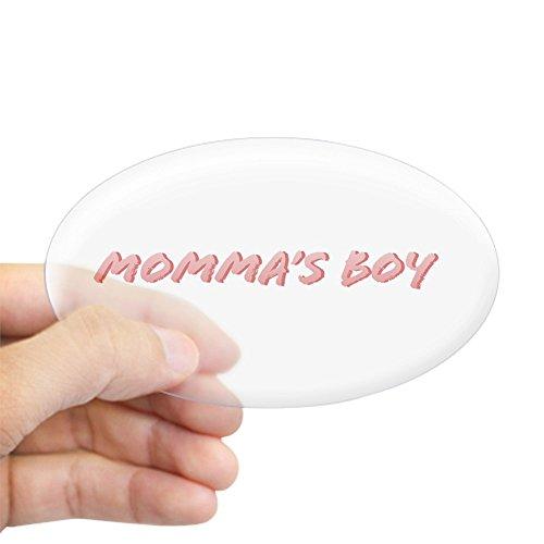CafePress Momma's Boy Oval Sticker Oval Bumper Sticker, Euro Oval Car Decal
