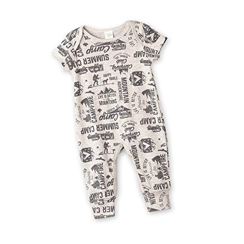 Tesa Babe Romper with Forest & Animals Print for Newborns & Baby Boys, Oatmeal (12-18 Months)