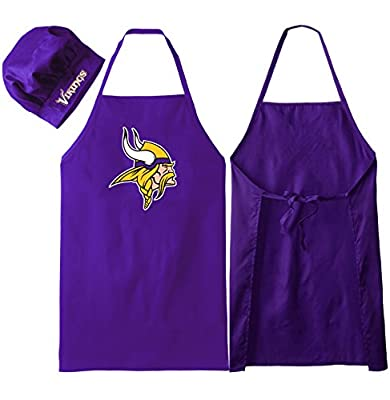 Minnesota Vikings (Apron & Purple Lanyard), Barbeque Apron and Chef's Hat , NFL Licensed