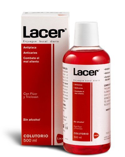 Lacer enjuague bucal sin alcohol colutorio 500ml