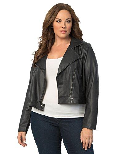 Women's Plus Size Belfast Jacket by Lyssé 1X Black