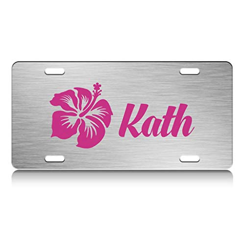 Custom Brother - KATH Female Name Stainless Steel Metal License Plate Ch