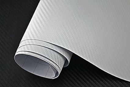 Neoxxim 3 29 M Auto Folie 3d Carbon Folie Weiss 100 X 150 Cm Meterware Blasenfrei Mit Luftkanälen Premium Küche Haushalt