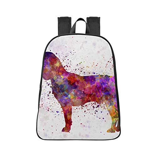 INTERESTPRINT Beagle in Watercolor Casual Travel Bag School Backpacks Shoulders Backpack