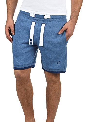 Bermudas solid Con Suave Hombre Faded Al Sweat Para Benjaminshorts Melange Chándal Blue Corto Forro Pantalón Tacto 1542m Polar wqB1SU