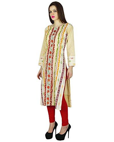 Phagun impreso floral Kurti diseñador Bollywood Kurta Mujer Varios superior de la túnica vestido