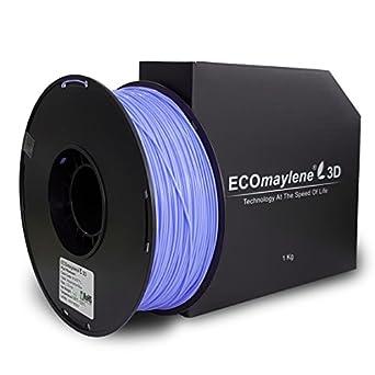 Aguamarina azul - ecomaylene3d Pla filamento 3d impresora, 1 kg ...