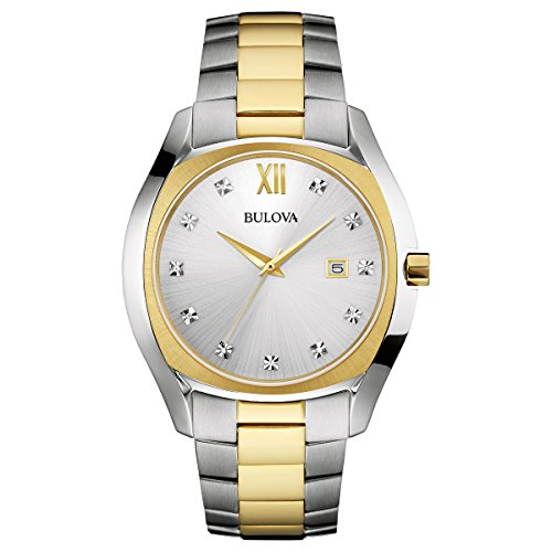 Bulova Men's 43mm Classic Diamond Two-Tone Stainless Steel Watch ()