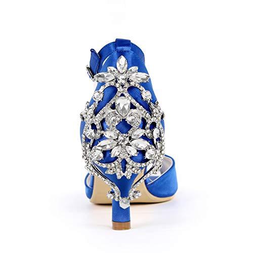 Heels L Frauen Ferse Schuhe Prom Buckle YC Braut Elfenbein wies Silver 6cm Toe große High Peep Hochzeit BrUr8wxgpq
