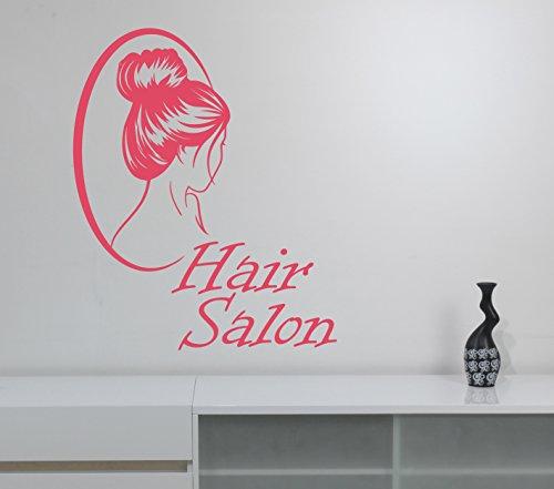 Hair Salon Sign Wall Decal Vinyl Sticker Barber Barbershop Window Decorations Haircut Hairdressing Fashion Studio Decor (Saloon Girl Hairstyles)