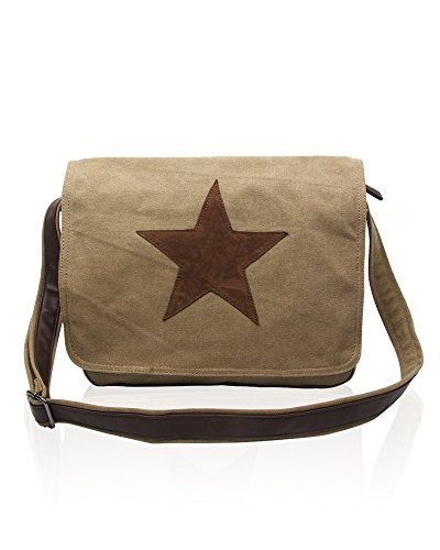 Taupe Canvas body Bags Rising Cross Foxlady Star SqRPnFvw0