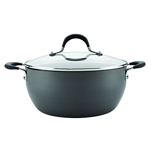 Circulon Momentum Hard-Anodized Nonstick 4.5-Quart Covered Casserole, Gray