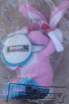 Energizer Bunny 1997 Bean Bag Plush 7' Tall