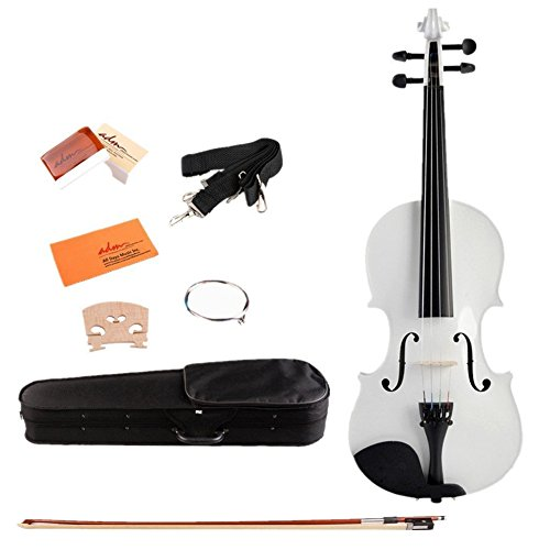 Acoustic Beginner Violin 4 4 Full Size Handcrafted Solid Wood with All Acessories, (Sunday School Lesson Halloween)