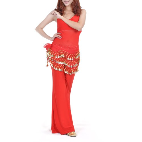 - BellyLady Belly Dance Hip Scarf 158 Gold Coins Dance Skirt