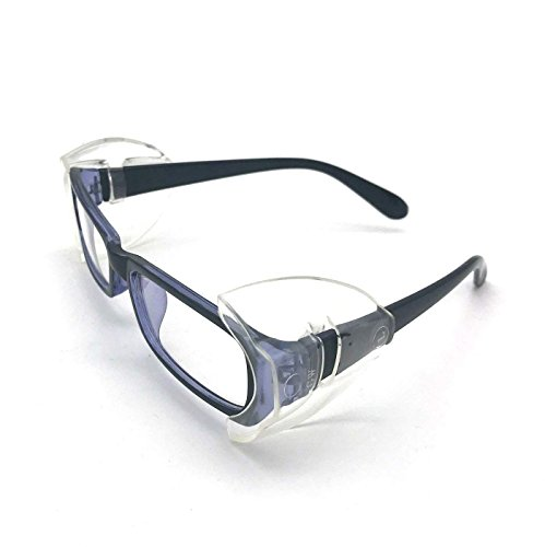 Safety Glasses Side Shields Large(2 Pairs),Slip on Clear Side Shields, Fits Medium to Large Eyeglasses Frames