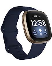 Fitbit Versa 3 – hälso- och fitness-smartklocka med GPS, kontinuerlig pulsmätning, röstassistent och upp till 6 dagars batteri