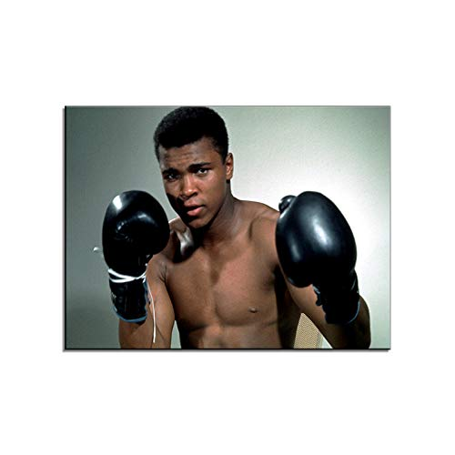 Pangoo Art Muhammad Ali Poster Art Decor Framed Print Canvas Poster Painting Wall Decor 16 x 12 Inch