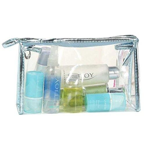 ZOONAI Portable Waterproof Cosmetic Makeup Bag Case Travel Organizer Toiletry Bag