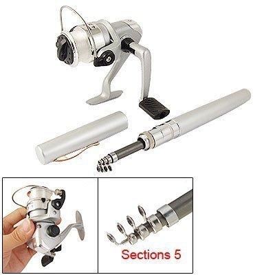 SODIAL(R) Pocket Pen Fishing Rod + 4.3:1 Spinning Reel Tackle Set