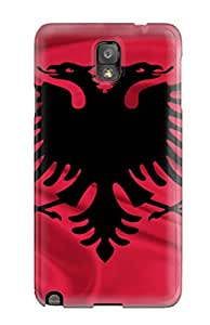 Fashion FKFYvYv8604UXDiY Case Cover For Galaxy Note 3(albania Flag Red Black World Nature Other)