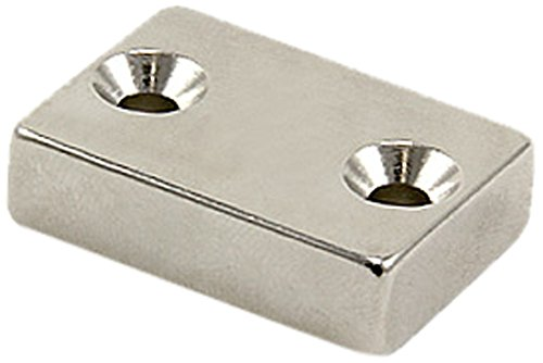 Magnet Expert® 30 x 21 x 8mm with 2 4.2mm c/sunk holes N42 Neodymium Magnet - 17.1kg Pull ( North ) ( Pack of 1 ) Magnet Expert® SP30218N-1