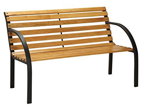 Furniture of America Bellina Outdoor Bench, Black