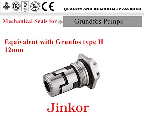 Jinkor Mechanical Seal CR Shaft Size 12mm Cartridge Seal Replacement for Grundfos CR Pump and Water Pump