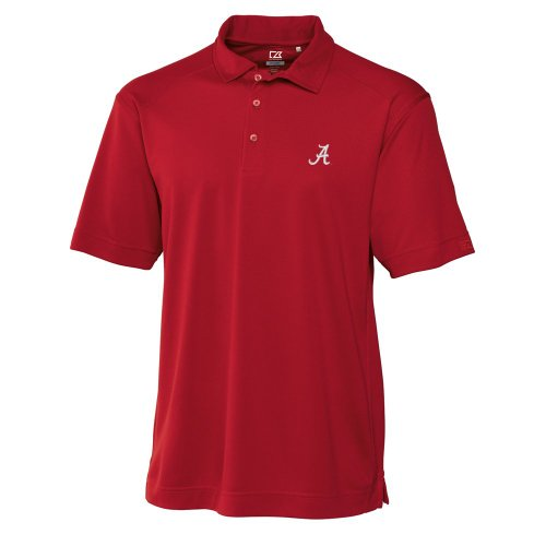 NCAA Men's Alabama Crimson Tide Cardinal Red Drytec Genre Polo Tee, 3X-Large