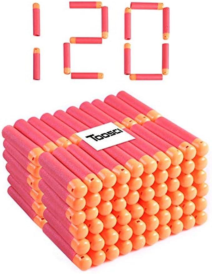 Toosci Mega Dart Refill Pack 120 Pcs 9.5cm Red Premium Refill Bullets for N-Strike Mega Series Blasters