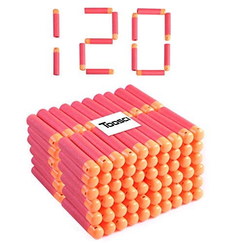 Toosci Mega Dart Refill Pack 120 Pcs 9.5cm Red Premium Refill Bullets for N-Strike Mega Series Blasters