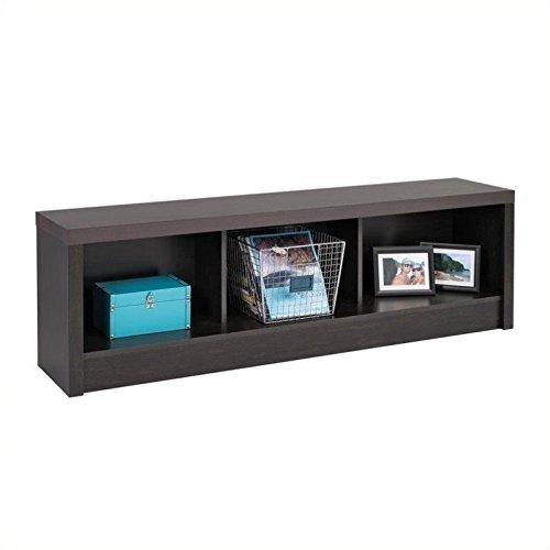 Prepac HUBD-0500-1 District Storage Bench, Washed Black -