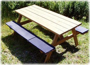 Picnic Table or Bleacher Seat Cushion. Provides COMFORT, CLEANLINESS, and WARMTH from the cold, hard, and dirty seat - Picnic Seat Table