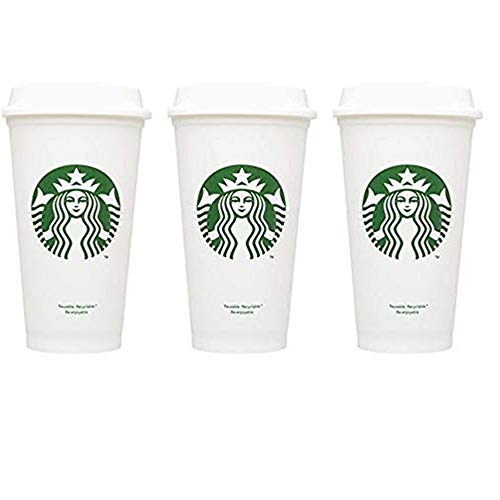 (Starbucks Reusable Cup To Go Travel Coffee Tea Tumbler 16 Oz (Pack of 3))