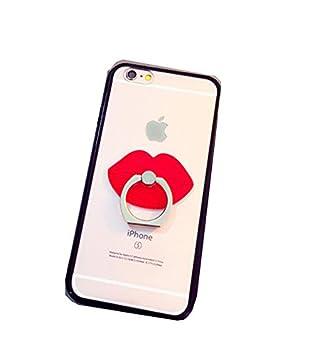 e9f2afaf82 Dmeru iPhone7ケース リップ キスマーク iPhone8 ひげ ペア カップル スケルトン リング付 落下防止リング スマホケース