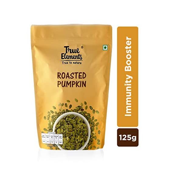 True Elements Roasted Pumpkin Seeds for Eating 125gm