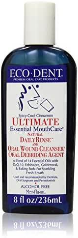 Eco-Dent Daily Rinse Ultimate Essential Mouth Care, Spicy-Cool Cinnamon, 8 fl oz (237 ml) (Pack of 2)