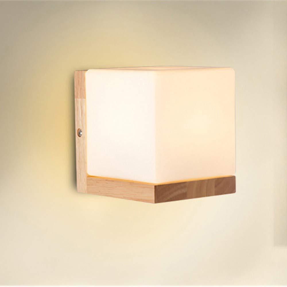 Chandeliersquare Massivholz Led Wandleuchte Nordic Art Decoration Home Schlafzimmer Moderne Wandleuchte